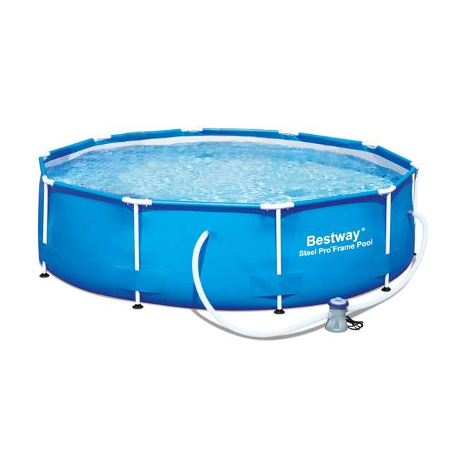 """56407E Bestway 10' x 30"""" Steel Pro Frame Above Ground Pool (2 Pack) 1"""