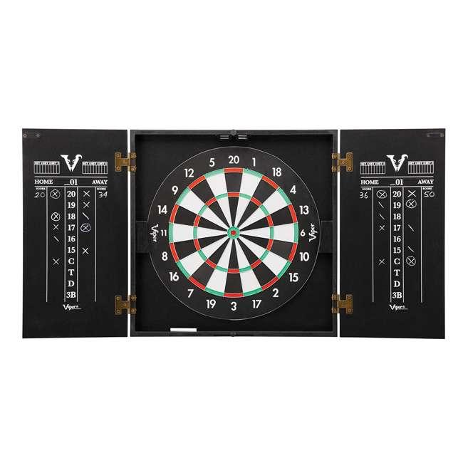 40-0375 Viper Hideaway Steel Tip 2 in 1 Traditional & Baseball Dartboard Cabinet, Black