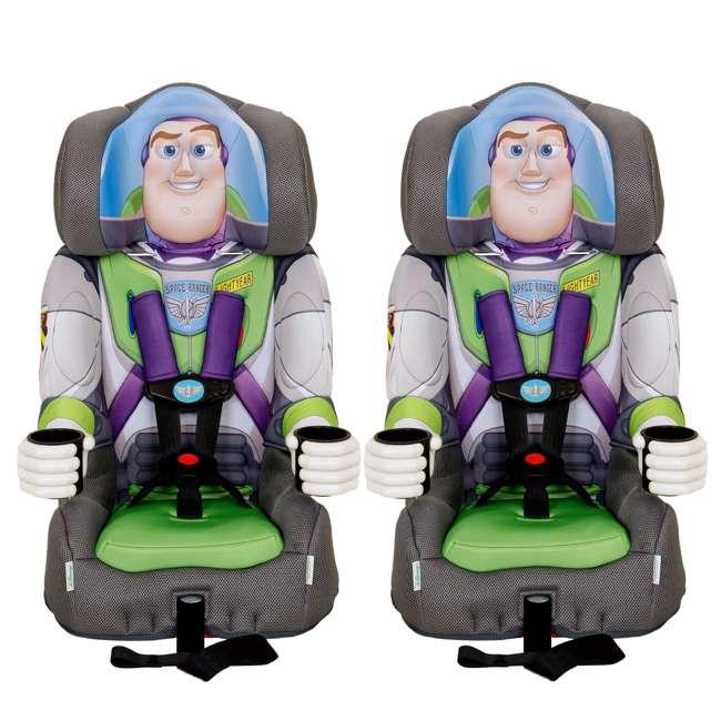 KE-3001BUZ KidsEmbrace Disney Buzz Lightyear Combination Harness Booster Car Seat (2 Pack)