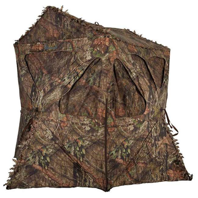 AMEBF3015 Ameristep Distorter Kick Out 3 Person Ground Hunting Concealment Blind, Mossy Oak 3