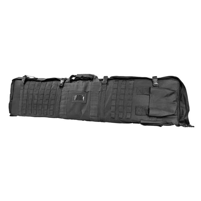CVSM2913U NcSTAR VISM Soft Padded Gun Case Rifle Carry Bag & 5.5' x 3' Shooting Mat, Gray