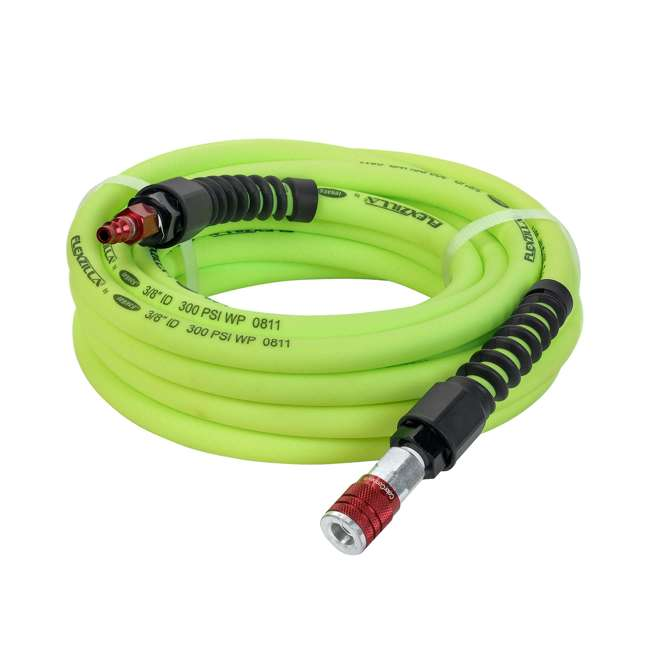 LEG-HFZP3825YW2-D Flexzilla Pro Air Hose with ColorConnex Type D Coupler and Plug, 3/8 In x 25 Ft