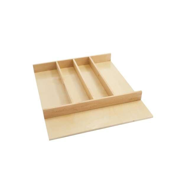 4WUT-1SH Rev-A-Shelf 4WUT-1SH Kitchen Drawer Shallow Wood Utility Tray Insert, Natural