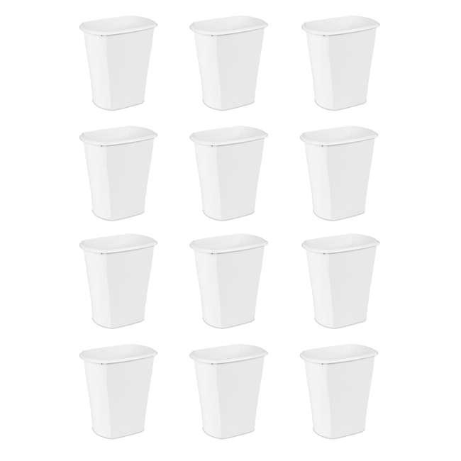 12 x 10528006 Sterilite 5.5 Gallon White Ultra Plastic Wastebasket Trash Can (12 Pack)
