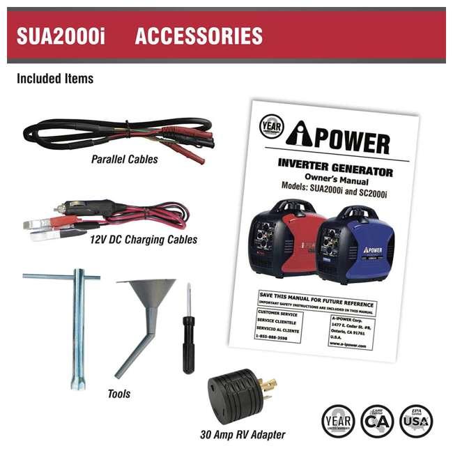 SUA2000i A-iPower SUA2000i Super Quiet 1600-Watt Portable Digital Inverter Gas Generator 5