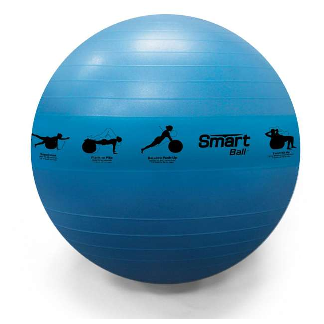 400-150-012 Prism Fitness 75cm Smart Self-Guided Stability Exercise Medicine Ball, Blue