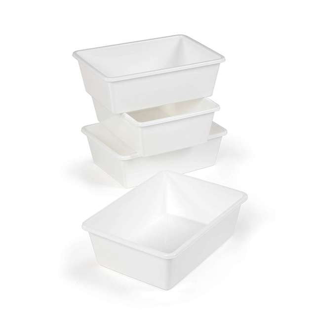 XL688 + SM695 Tot Tutors 4 Large Storage Container Bins and 4 Standard Storage Container Bins 1