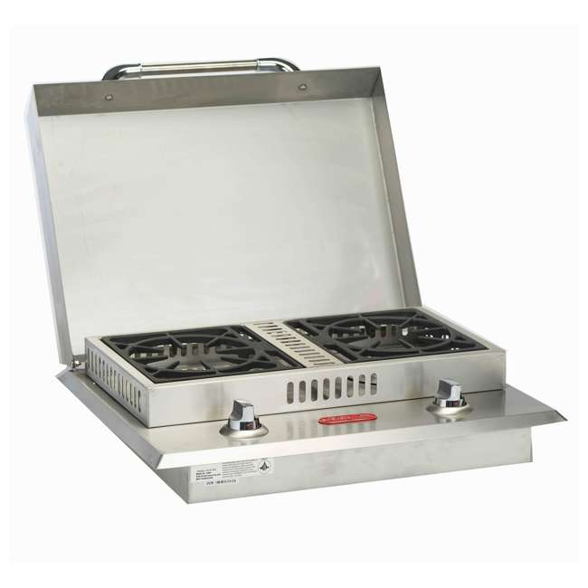 BOP-60099 Bull Outdoor Products Stainless Steel Natural Gas Double Side Burner