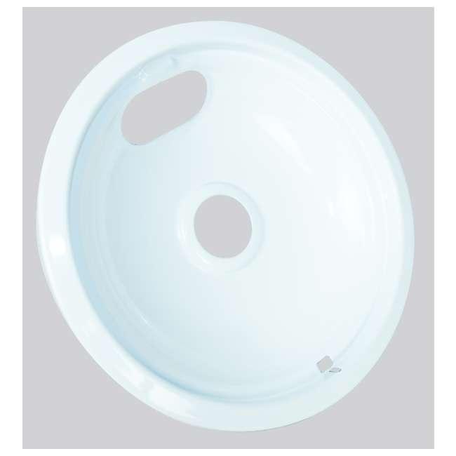 12 x P102W Range Kleen Style A Porcelain Drip Bowl, White (12 Pack) 2