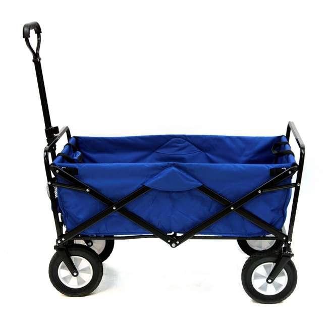 3 x MAC-WTC-111-BLUE-U-A Mac Sports Folding Steel Frame Outdoor Utility Wagon Cart (Open Box) (3 Pack)