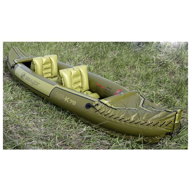 2000010629 Sevylor Tahiti 2-Person Fishing Inflatable Kayak Boat 1
