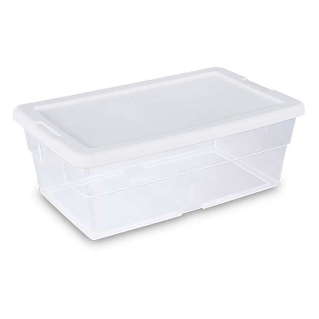 144 x 16428012-U-A Sterilite 16428012 6 Quart Storage Tote Shoe Box Container (Open Box)(144 Pack)