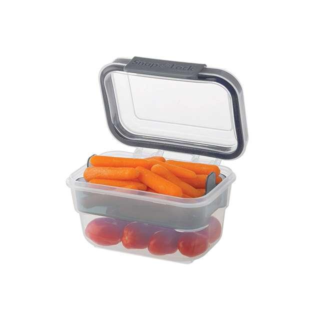 SNL-1000GY Progressive International SNL-1000GY Snaplock Snack To Go Plastic Container 2