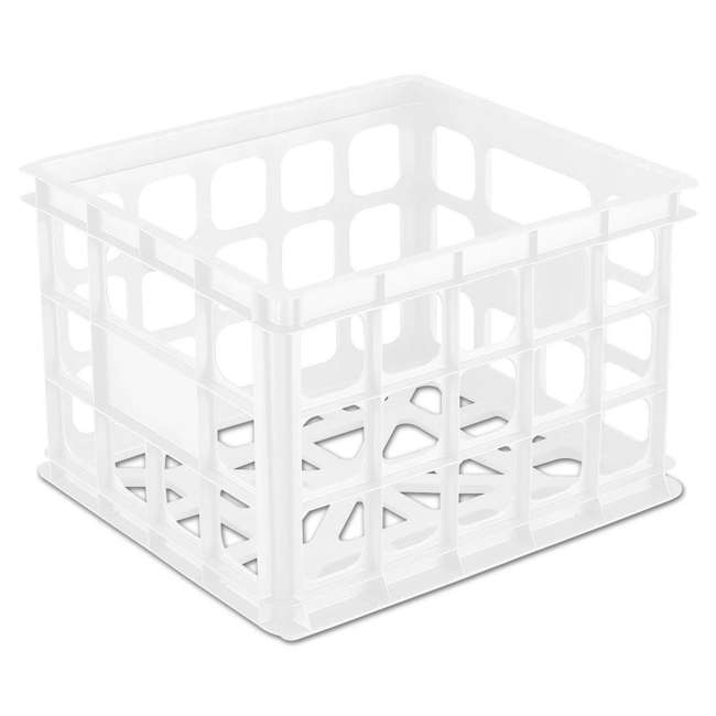 18 x 16928006-U-A Sterilite Plastic Black Storage Box Crate Container Closet (Open Box)(18 Pack) 1