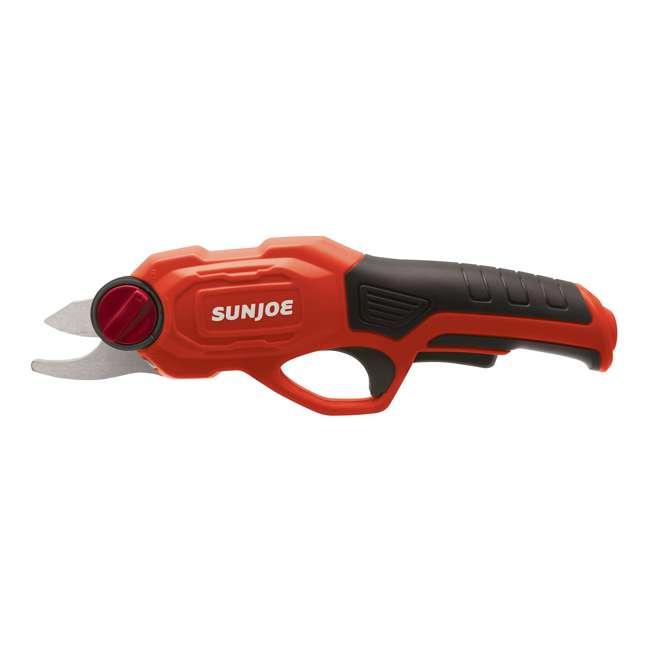 SUJ-PJ3600C-RED-U-B Sun Joe Cordless Battery Powered Rechargable Power Garden Pruner, Red (Used) 3