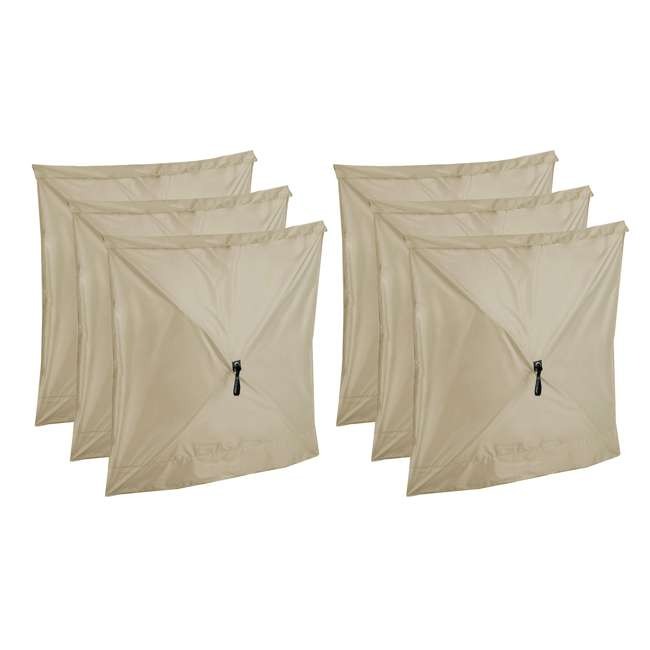 CLAM-WP-114245 Clam Quick-Set Tan Wind Panels, Accessory Only (6 Pack)