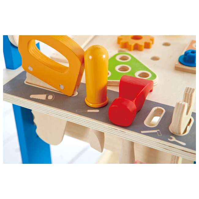 E3000 Hape Wooden Child Master Tool and Workbench Toy Builder Set (For Parts) 5