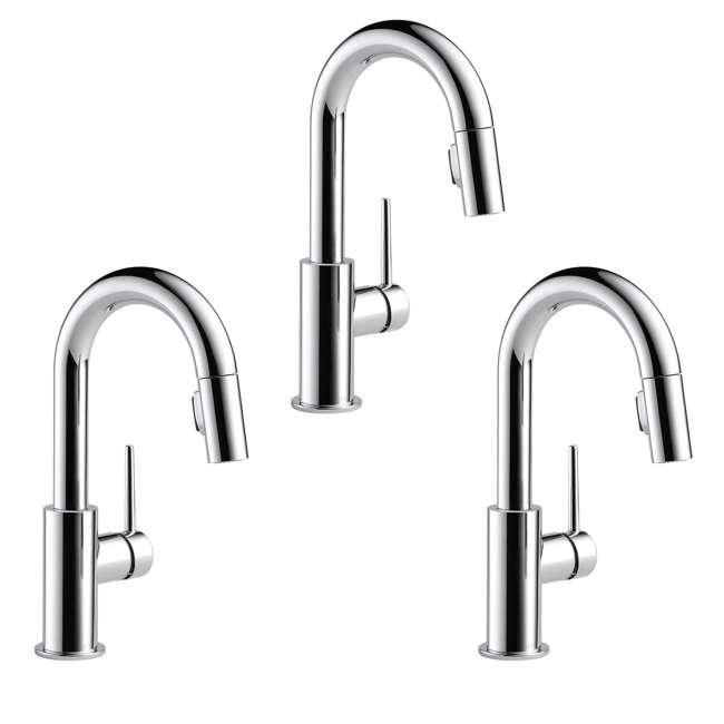 3 x 9959-DST Delta Single Handle Trinsic Bar/ Prep Faucet, Chrome (3 Pack)