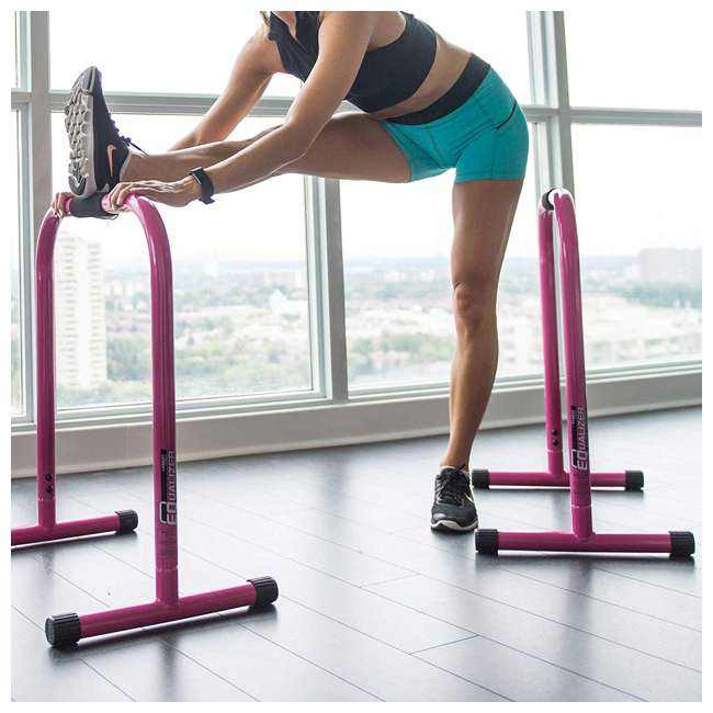 LFI-EQ-PINK Lebert Fitness Total Bodyweight Strengthener Stainless Steel Equalizer, Pink 1