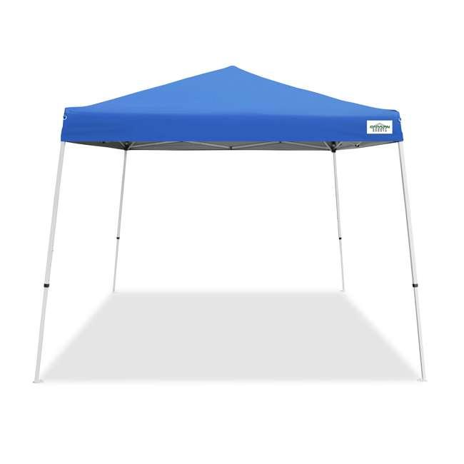 CVAN21007800020 Caravan Canopy V-Series 2 10' x 10' Angled Leg Canopy, Blue