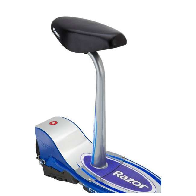 13116240 + 97778 + 96785 Razor E300S Seated Electric Scooter (Blue) with Helmet, Elbow & Knee Pads 9