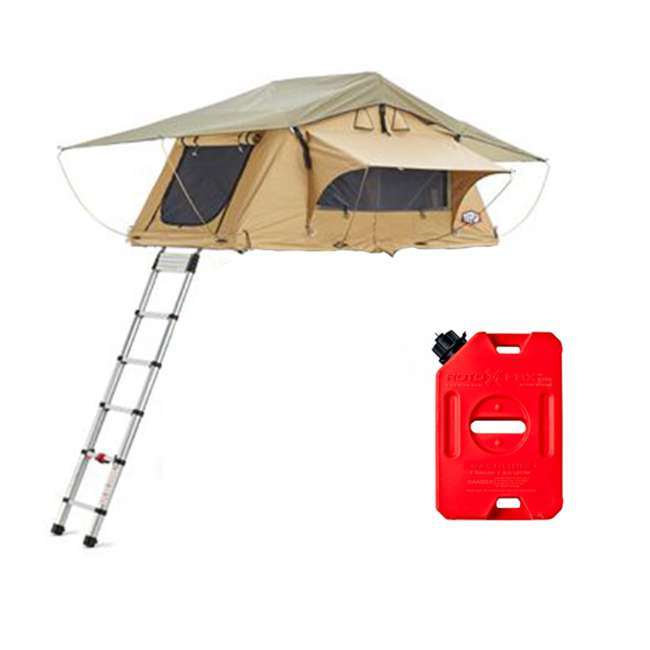 01AYR011606 + RX-1G Tepui Tents Ayer Explorer 2 Person Car Roof Top Tent & 1 Gallon Gas Container