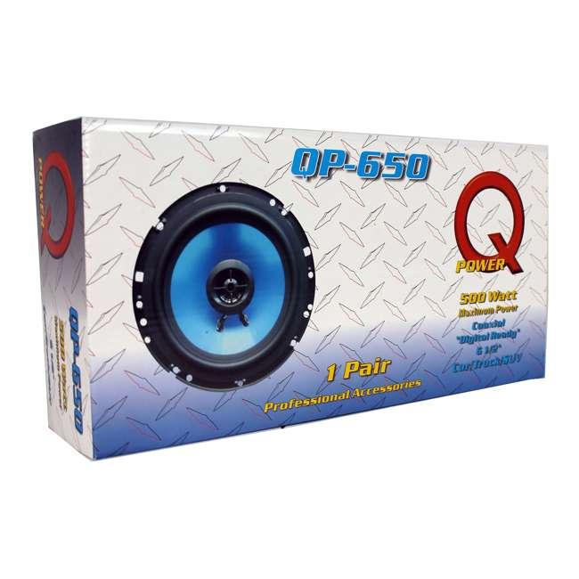 """QP650 + QP693 Q POWER 6.5"""" 300 Watt Speakers (4 Pack) + 6x9"""" Speakers (Pair) 10"""