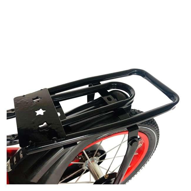 16BK-R NextGen 16 Inch Childrens Kids Bike Bicycle with Training Wheels & Basket, Red 3