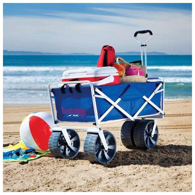 MAC-WTCB-100-BLUE-U-A Mac Sports Folding All Terrain Beach Utility Wagon (Open Box) (2 Pack) 5