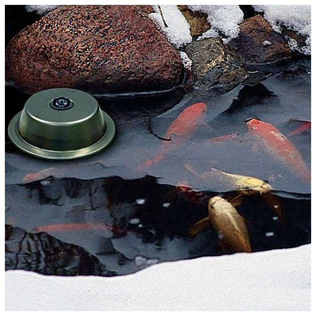 AQS-39000-U-C Aquascape 300 Watt Stainless Steel Pond Heater & Deicer Water Garden (For Parts) 2