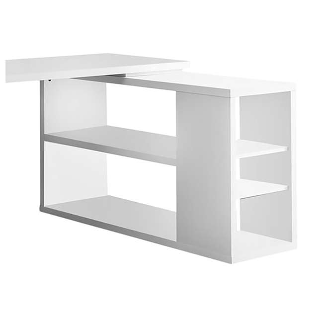 VM-7023-U-A Monarch L Shaped Contemporary Office Computer Desk with Drawers White (Open Box) 4