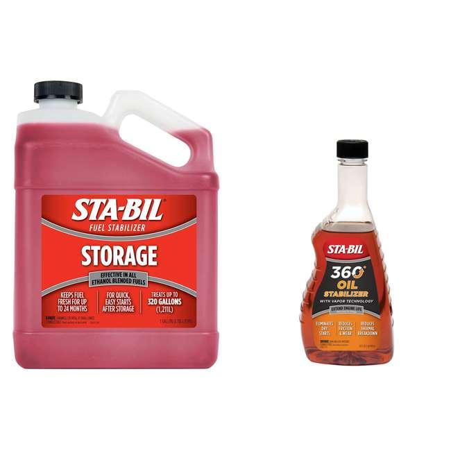 22213 + 22402 STA-BIL Gasoline Storage Treatment Additive + Engine Oil Stabilizer