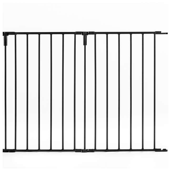 1176 Regalo Home Decor Super Wide Baby Gate, Black 2