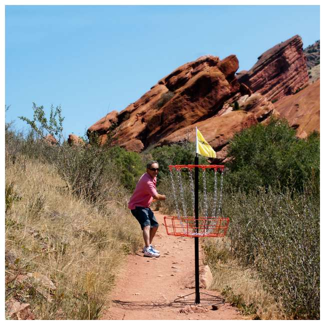 PS-DGS-II Park & Sun Sports Disc Golf Steel Basket w/ 6 Throwing Discs 4