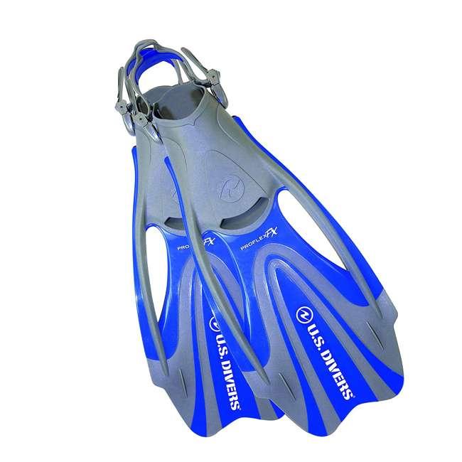240880-US U.S. Divers 240880 Proflex Fx Size Medium Diving Fins, Blue