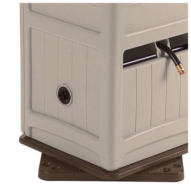 SSB200B Suncast  Swivel Hose Reel Hideaway w/ Hose Guide, Taupe     (Open Box) (2 Pack)  3