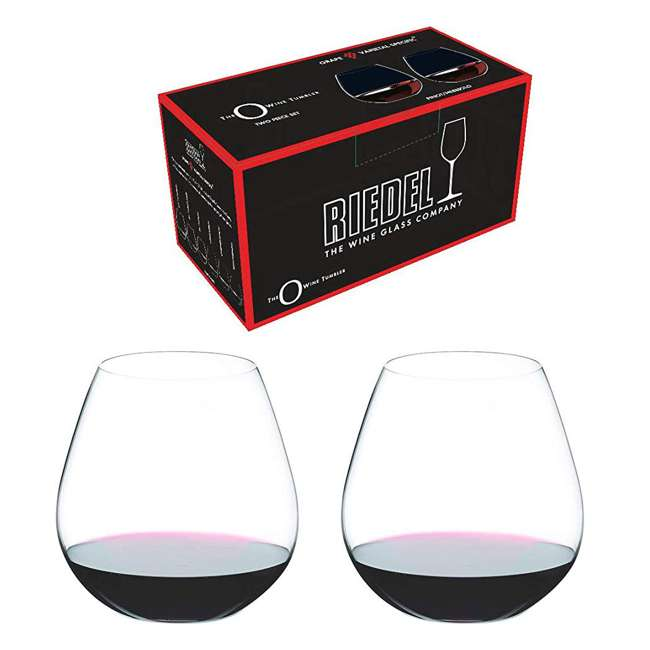 0414/07 Riedel VINUM O Wine Tumbler Nebbiolo Stemless Fine Crystal Glasses, Set of 2 1
