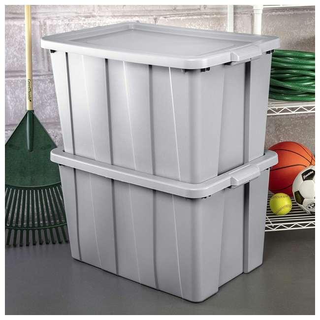 4 x 16796A04 Sterilite Tuff1 30 Gallon Plastic Storage Tote Container Bin w/ Lid (4 Pack) 3