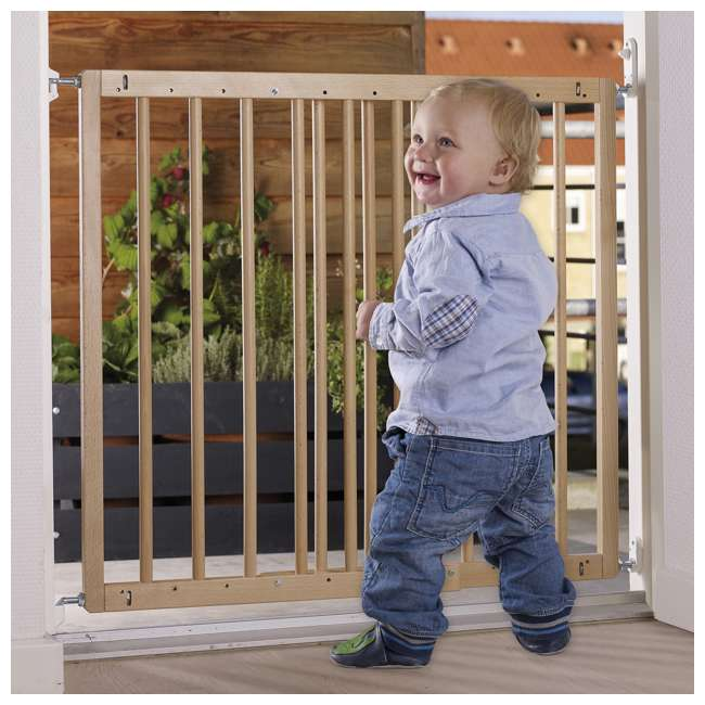 BBD-57112-5400 BabyDan MultiDan Wall Mount 23.9-40.1 Inch Doorway Safety Baby Gate, Beechwood 4