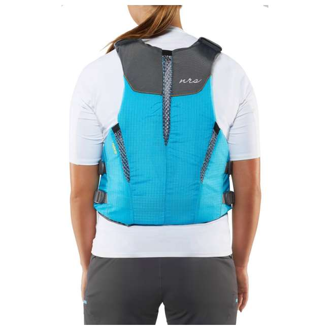 40073.01.103 NRS Womens Nora Type III Fishing Life Jacket Vest PFD w/ Pockets, Large/XL, Teal 4