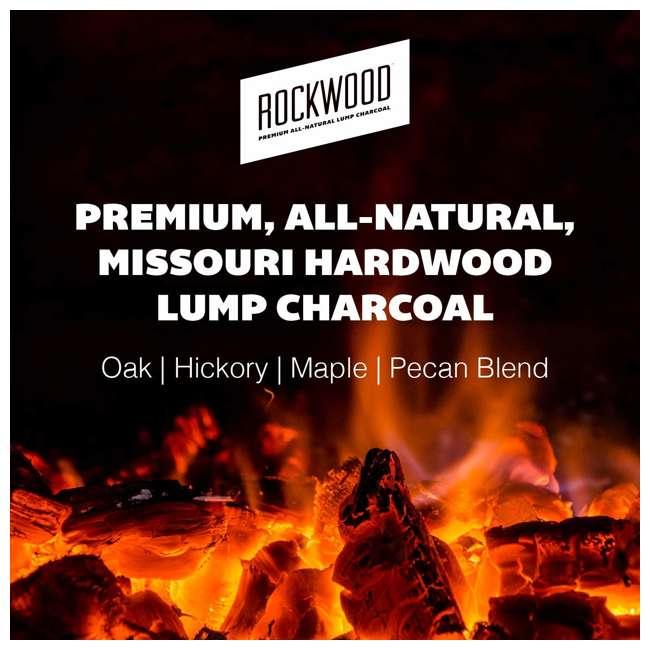 RW20 Rockwood All Natural Hardwood Grill or Smoker Lump Charcoal Mix, 20 Pound Bag 1