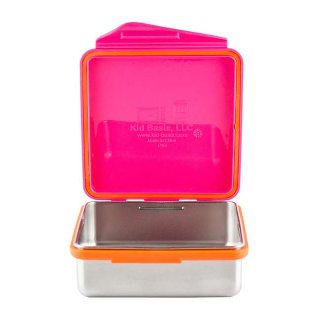 894148002800 Kid Basix 894148002794 Safe Snacker 23 Ounce Stainless Steel Lunch Box, Fuchsia 1