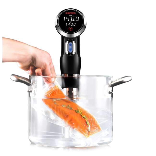 RJ39 Chefman Sous Vide Immersion Cooker Heater Circulator with LCD Display, Black 3