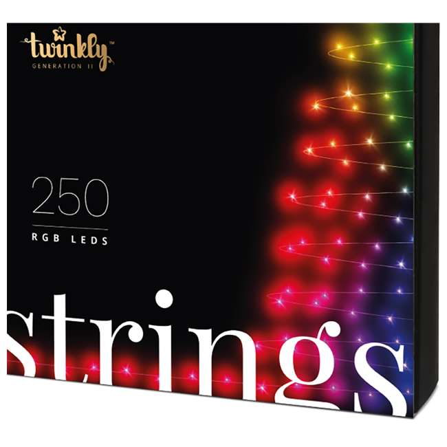 TWS250STP-BUS Twinkly Smart Decorations Custom 250 Bulb LED RGB App-Controlled String Lights