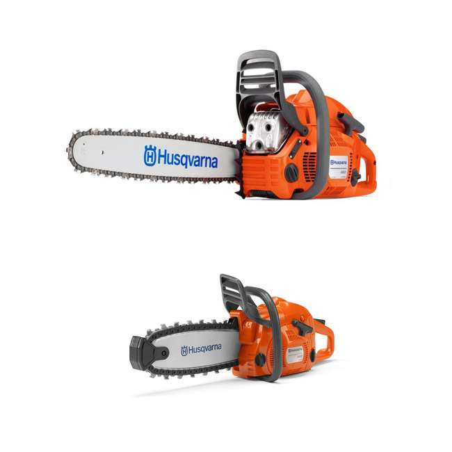 HV-CS-966048320 + HV-TOY-522771104 Husqvarna 460 20-Inch 3.62 HP Gas-Powered Chainsaw | 440 Toy Kids Chainsaw