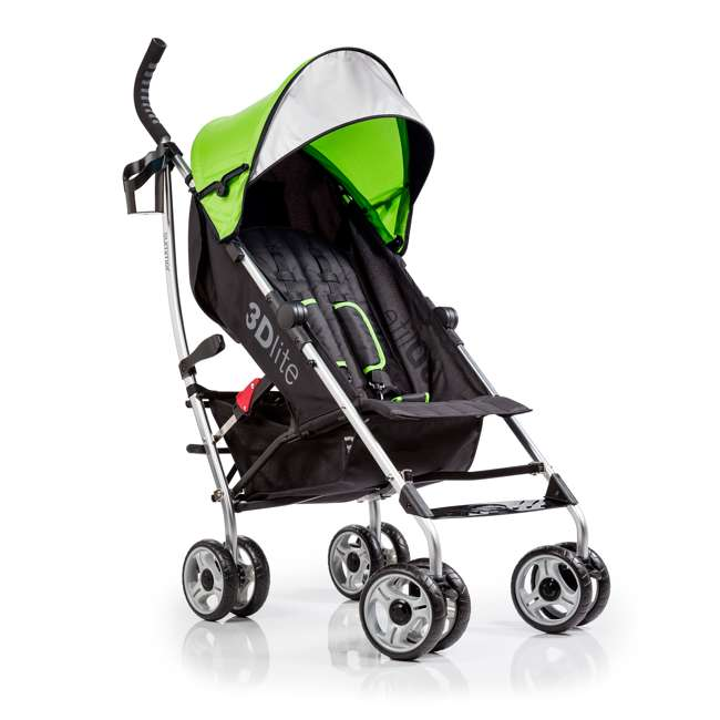 21970A Summer Infant 3Dlite Convenience One-Hand Adjustable Stroller Tropical Green 4