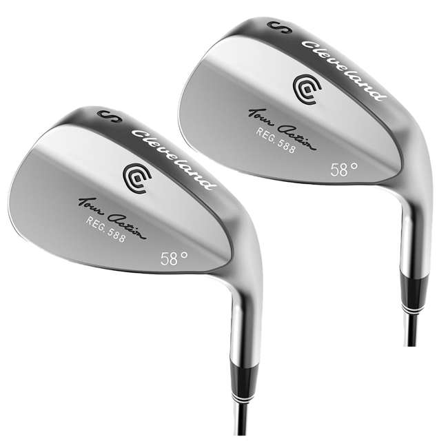 4416-588-R58 Cleveland Golf 58-Degree Tour Action Wedge, Right-Handed (2 Pack)