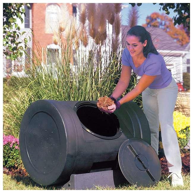EZC01-BLK Good Ideas Plastic Outdoor 12-Cubic-Foot Compost Wizard Tumbling Composter 4