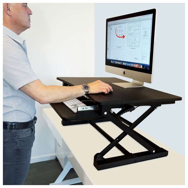 XAFD-M1 xec-FIT Adjustable Height Convertible Sit to Stand Up Desk Laptop Desktop Riser  8