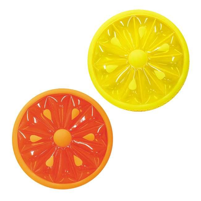 9054O + 9054Y Swimline 60-Inch Inflatable Orange & Lemon Slice Float